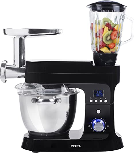 Petra Electric 58.220510.01.001, Robot de Cocina, Función de Calentamiento, 1000 W, Color Negro: Amazon.es: Hogar