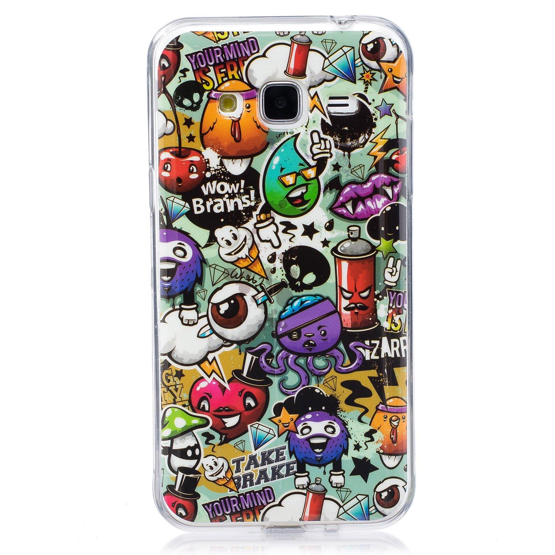 Aeeque Samsung Galaxy J3 2016 Case With Cartoon Rubbish Amazon Co