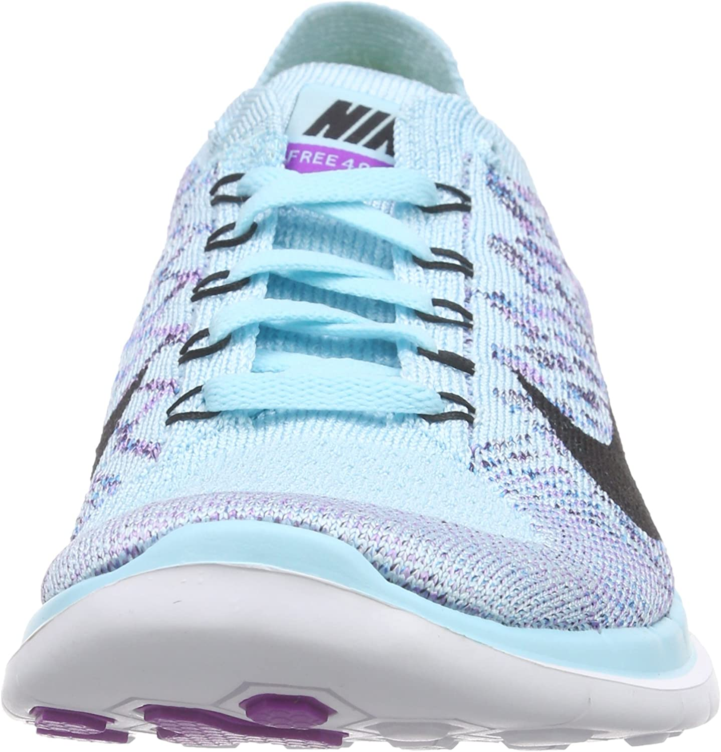 NIKE Womens Free Flyknit 4.0 Copa Blue Lagoon Grand Purple Black