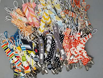 Soothies Baby Pacifier Clips by Upsimples 6 Pack Baby Pacifier Holder