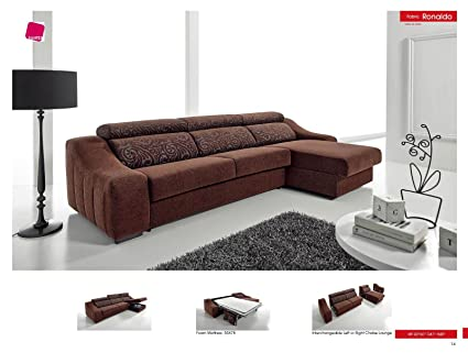 Amazon.com: Ronaldo Sectional w/Sleeper: Kitchen & Dining