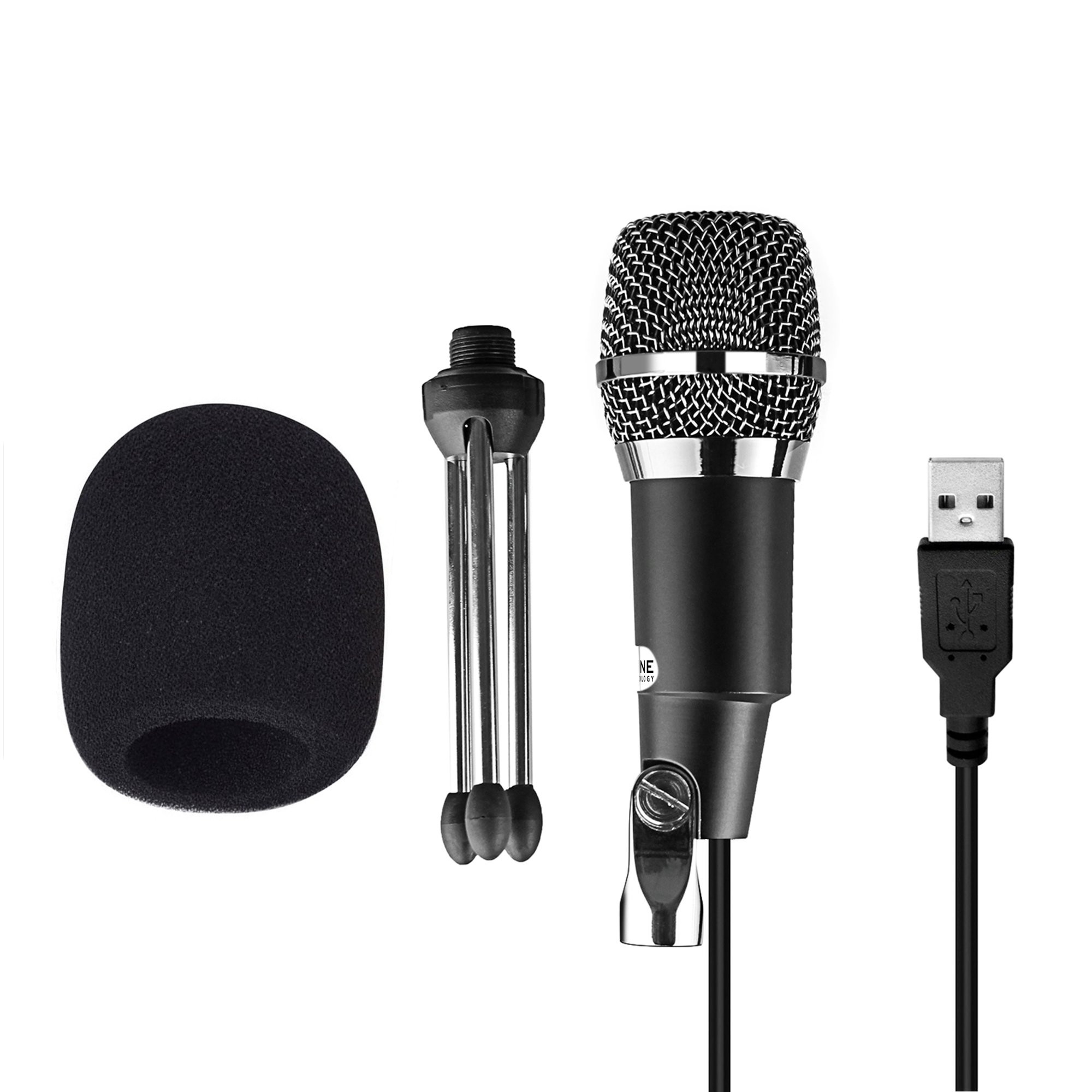 FIFINE TECHNOLOGY USB Microphone,Fifine Plug &Play Home Studio USB Condenser Microphone for Skype, Recordings for YouTube, Google Voice Search, Games(Windows/Mac)-K668 by FIFINE TECHNOLOGY (Image #4)