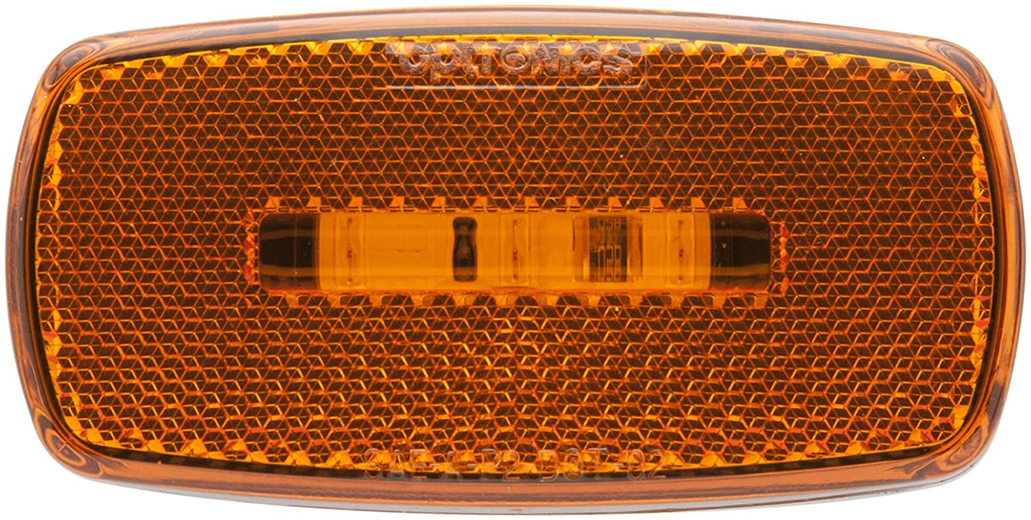 6 Optronics MCL32AS Surface Mount LED Marker Clearance Light with Reflex Amber