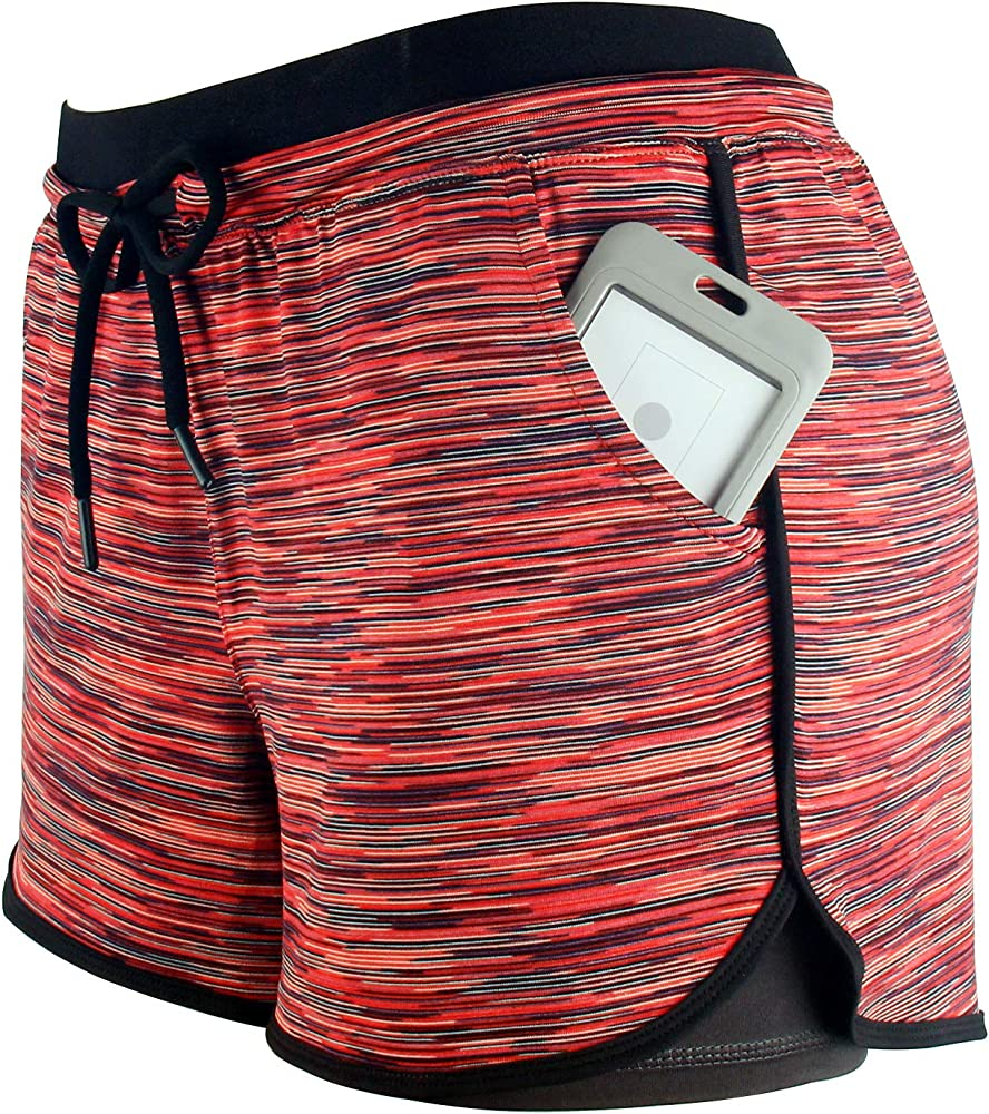 YOGAFEEL Womens Running Yoga Short Pants Workout Athletic Jogging Dolphin Shorts 2-in-1