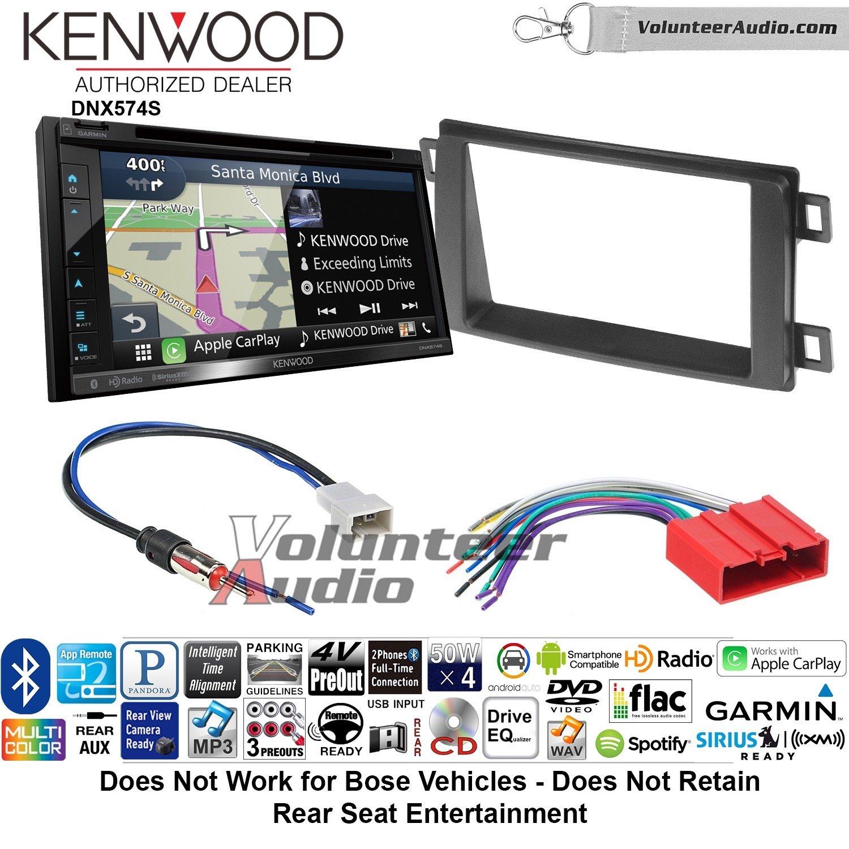 ボランティアオーディオKenwood dnx574sダブルDINラジオインストールキットwith GPSナビゲーションApple CarPlay Android自動Fits 2013 – 2016マツダCX - 5 B07C29WVCG