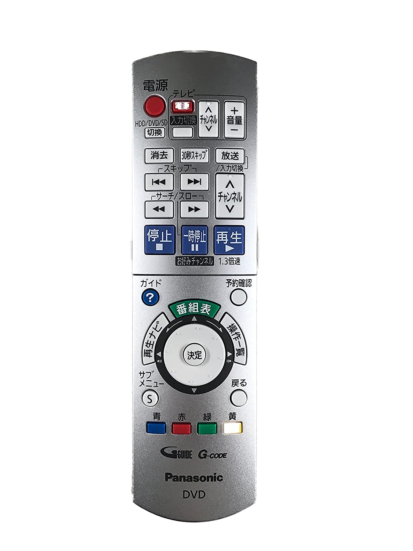 Panasonic ハイビジョンDVDレコーダー用リモコン EUR7658YE0   B00897KLRS