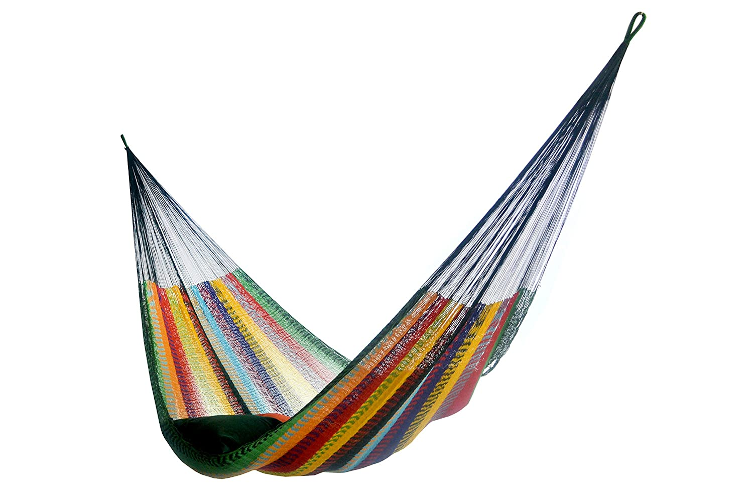 Hammocks Rada: Handmade Yucatan Hammock - Matrimonial Size Tropical Multicolor - 13ft Long Artisan Crafted