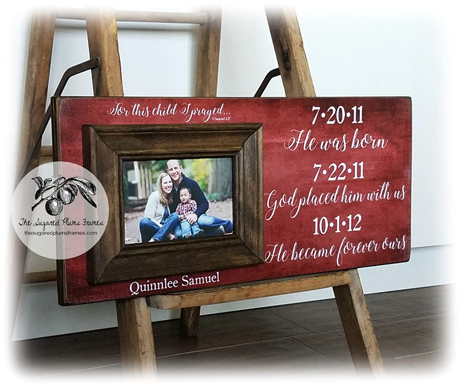 Amazon.com: Adoption Gifts, Adoption Frame, Personalized Picture ...