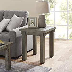 Classic Brands Cottage Farmhouse End Table, Winter Grey
