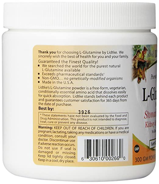 Amazon.com: Lidtke Technologies L-Glutamine Powder, 300 Gram: Health & Personal Care