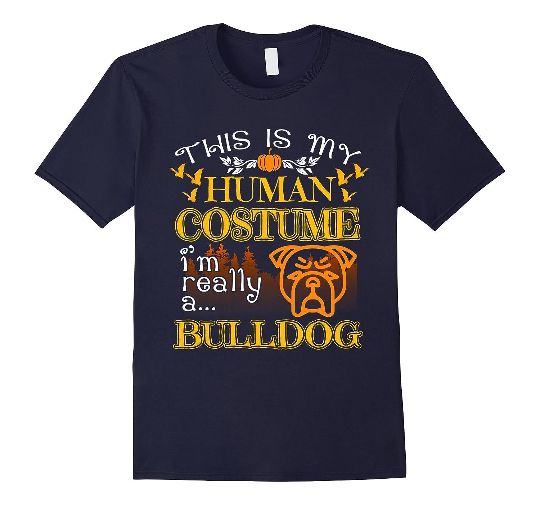 Halloween Bulldog Costume Gift For Halloween Shirt-ANZ