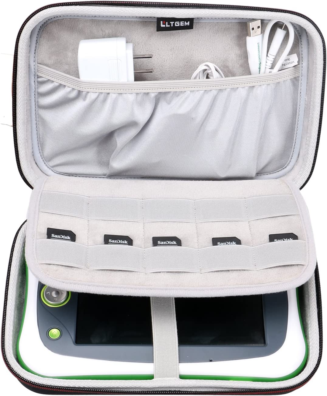 LTGEM EVA Hard Case for Leapfrog LeapPad Ultimate ( Ready for School Tablet ) - Travel Protective Carrying Storage Bag