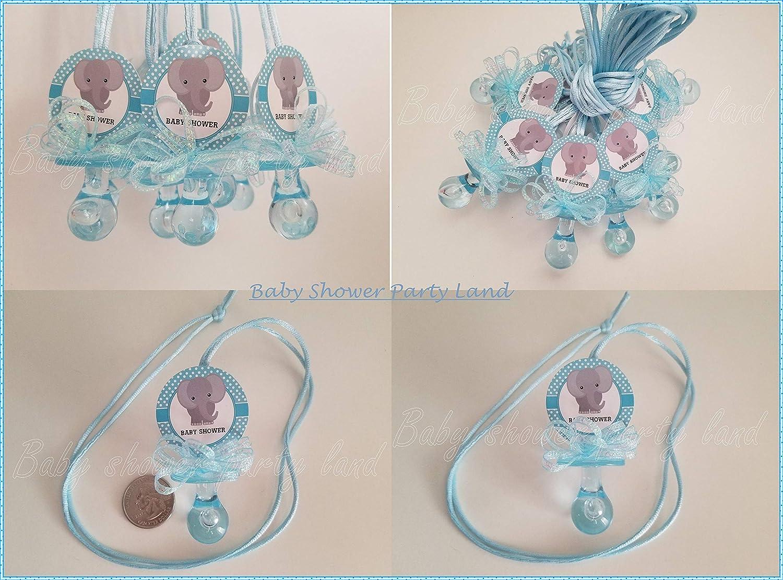 Amazon.com: 12 collares de chupete de elefante para baby ...