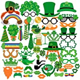 PBPBOX St Patrick's Photo Booth Props Creative Funny Disguise Props for Parties or Group Photos - 52 Pieces