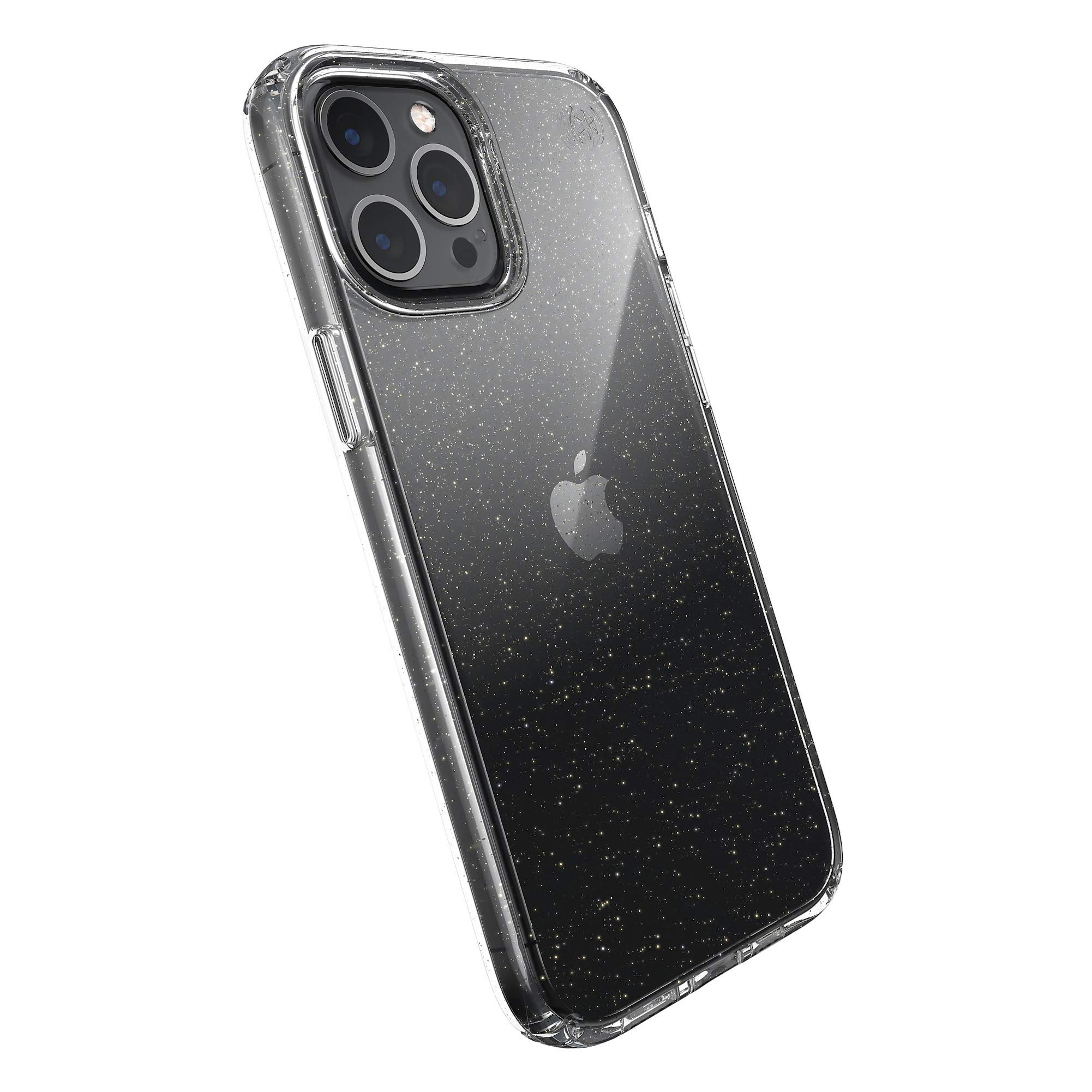 Speck Products Presidio Perfect Clear w/Glitter : Clear / Gold Glitter iPhone 12 Pro Max