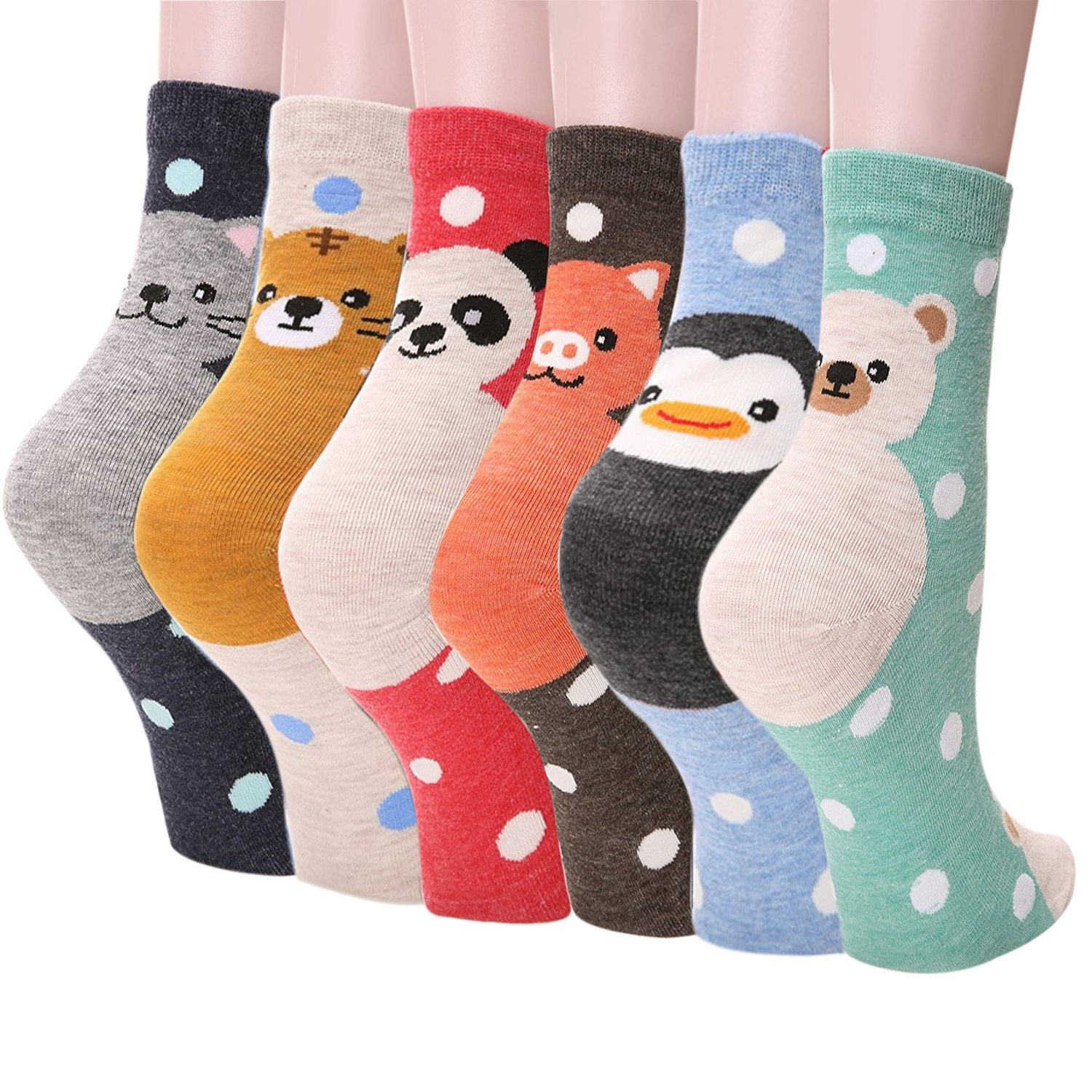 A0S0 Womens Casual Socks - Cute Crazy Lovely Anial Cats Dogs Design Goods ofr Gift One Size fits All … (Double Animal)