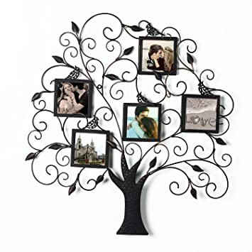 Amazoncom Adeco Pf0588 Brown Black Decorative Tree Style Collage