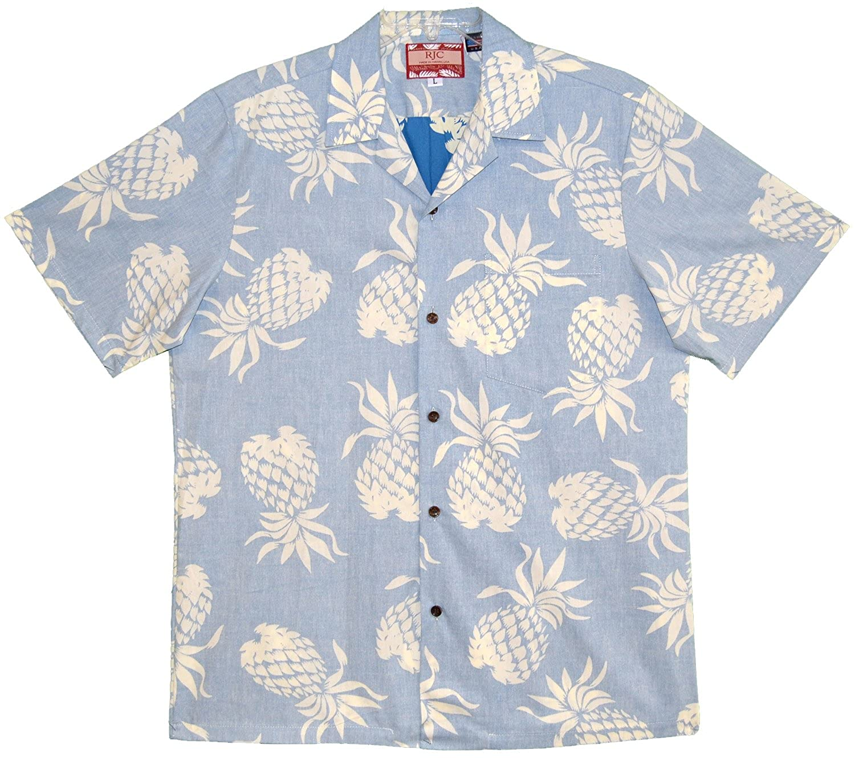 RJC Mens Pineapple Hala Kahiki Reverse Shirt