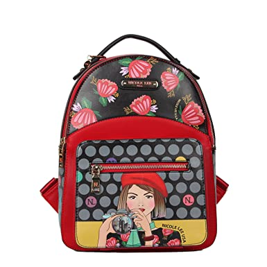 ce012e2815 Nicole Lee Women s Stylish  Gray  Small Lunch Backpack