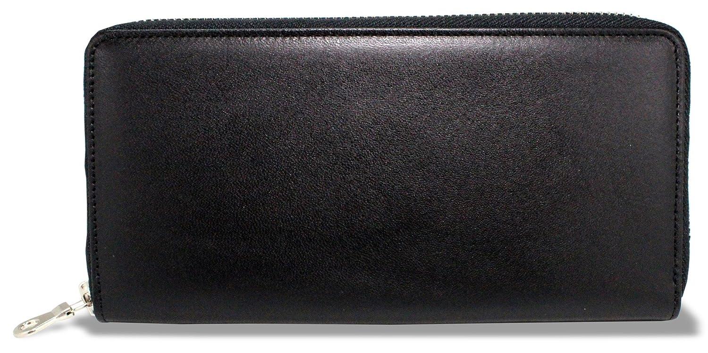 栃木レザー(とちぎレザー) 本革 国産 日本製 ラウンド束入れ 長財布 B0792PD1RK ブラック ブラック