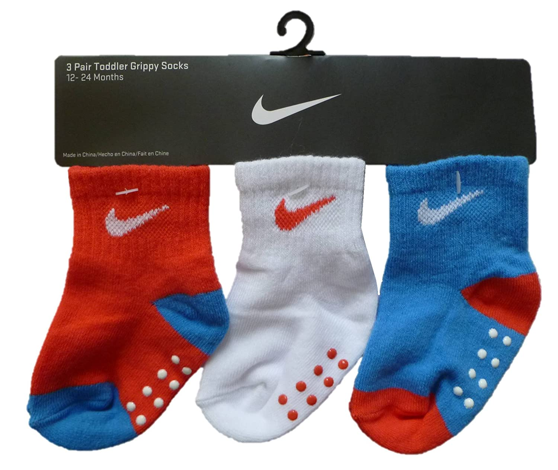 Nike Swoosh 3 par Magnigrip Infant/Toddler Calcetines (12 ...