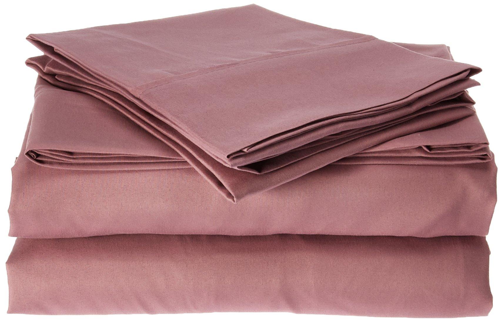 Spirit Linen, Inc Hotel 5th Ave EE-FULL-ROSE-4PC Full Rose Everyday Essentials 1800 Series 4Pc Sheet Set
