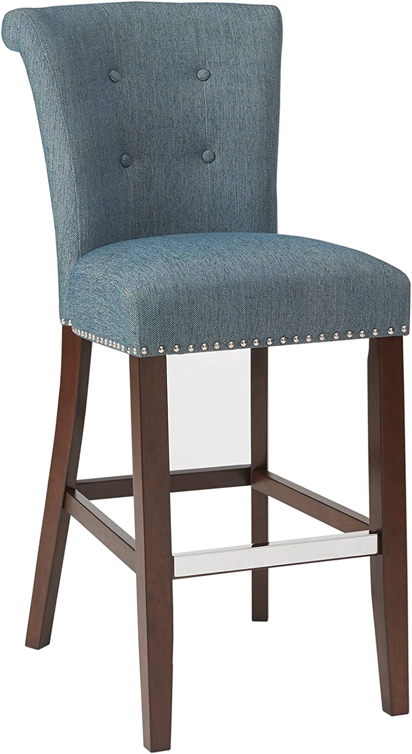 Madison Park 30 Inch Bar Stool Colfax Blue See Below Furniture Decor Amazon Com