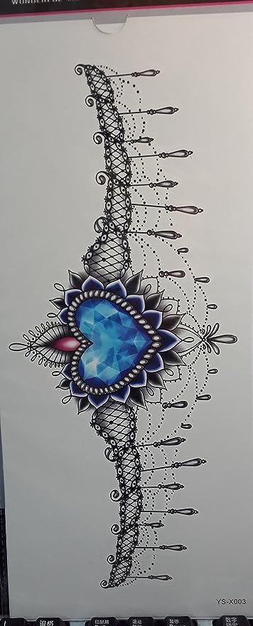 Hierba (Sunshine Tatuajes temporales para mujeres pecho joyas de ...