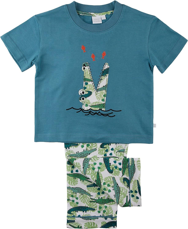 2-7yrs Bedlam Boys Dinosaur Crocodile Shortie Summer Pyjamas 2-7yrs T-Rex Roar