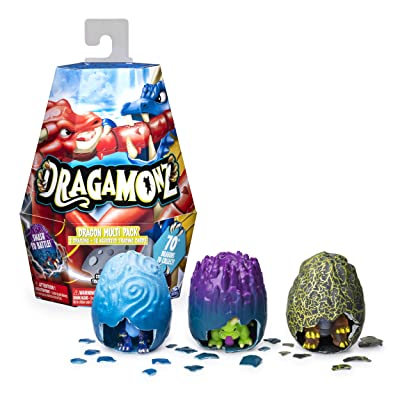 Dragamonz, Dragon Multi 3-Pack, Collectible Figure and Trading Card Game, for Kids Aged 5 and Up: Toys & Games