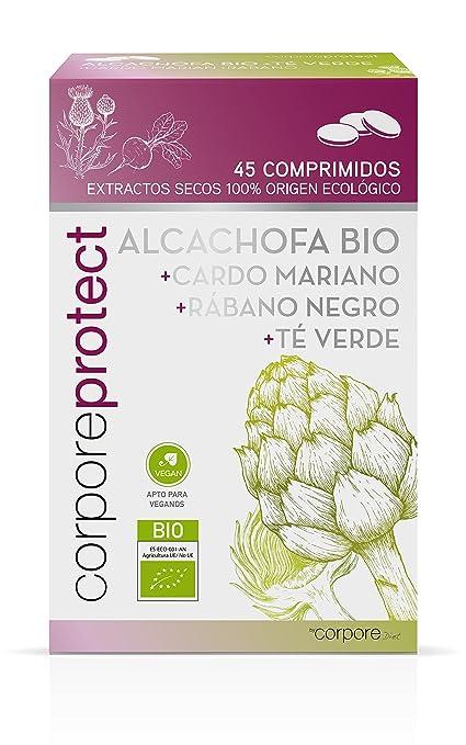 Corpore Protect Cápsulas de Alcachofa + Té Verde - 2 Paquetes de 45 Unidades