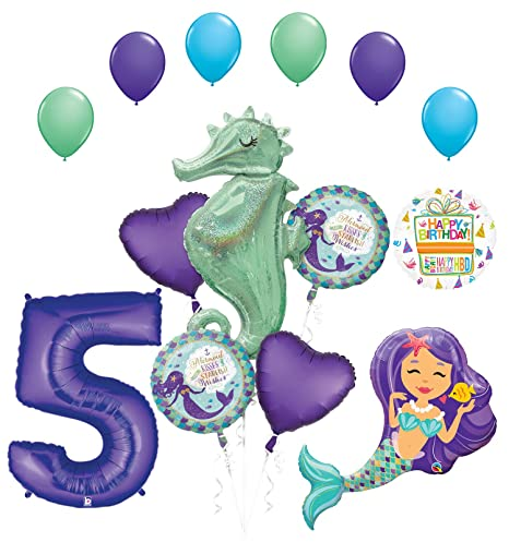 Image Unavailable Not Available For Color Mermaid Wishes And Seahorse 5th Birthday Party Supplies
