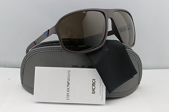 d6a99c2b319 Amazon.com  Emporio Armani EA4029 Sunglasses Brown w Brown (5210 73) EA 4029  521073 64mm Authentic  Clothing