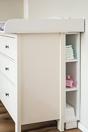 Kraftkids Storage Shelf For Changing Table White Suitable