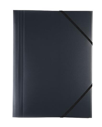 PP Idena 10373 Gummizugmappe DIN A3 transluzent schwarz
