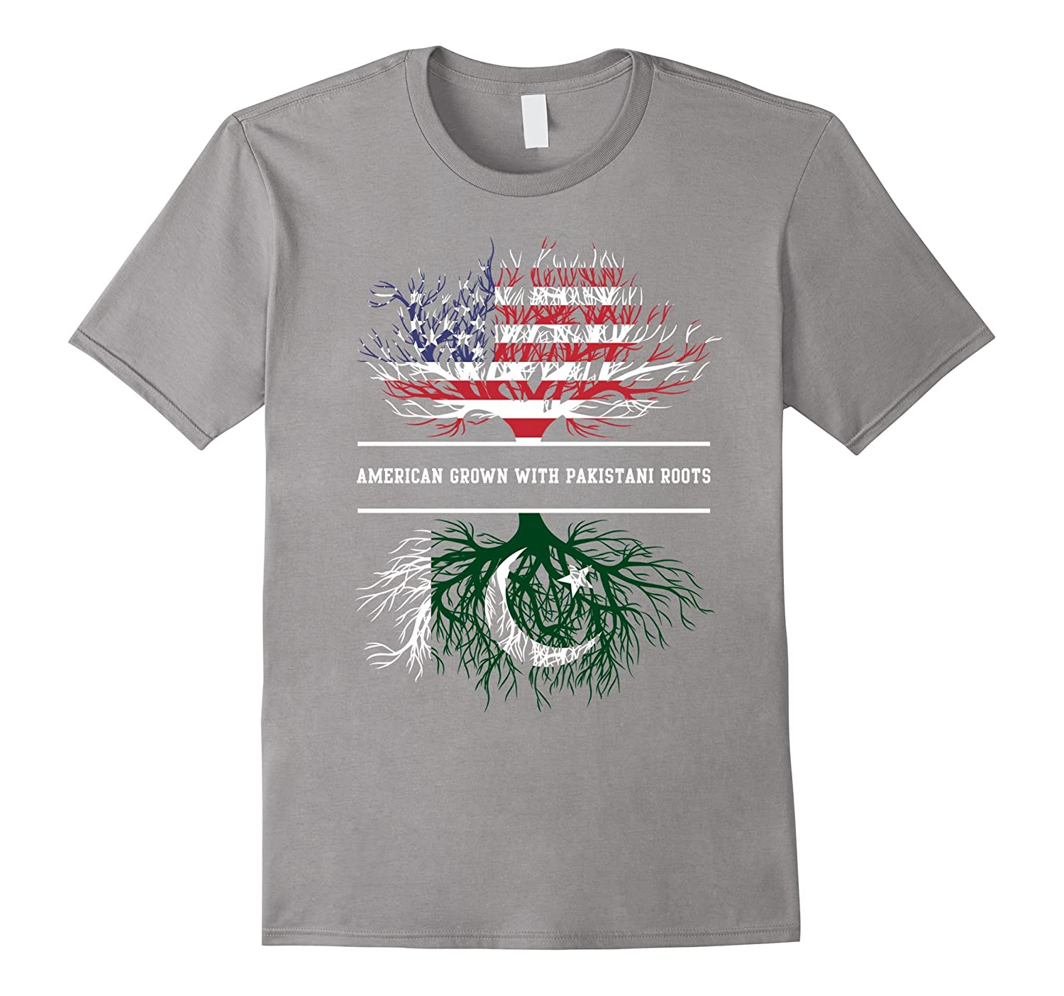 American Grown With Pakistani Roots T-Shirt Pakistan Tee-TH