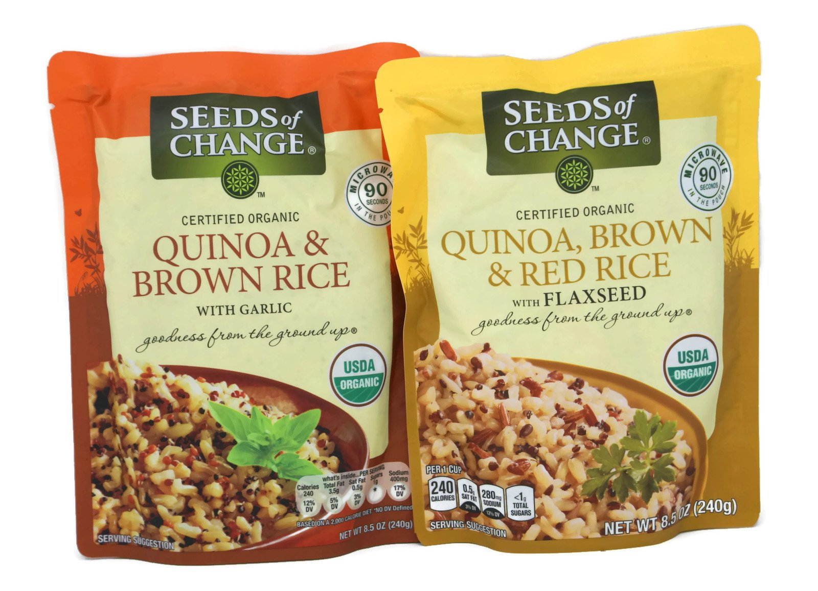 General Variety Pack - Seeds Of Change Organic Rice (8.5oz) - Quinoa, Brown & Red Rice W/Flaxseed, Quinoa & Brown Rice W/Garlic