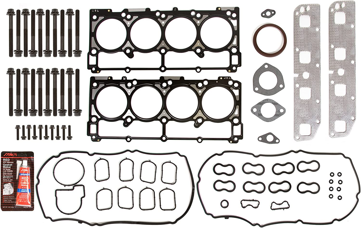 Evergreen HSHB8-30157 Cylinder Head Gasket Set Head Bolt