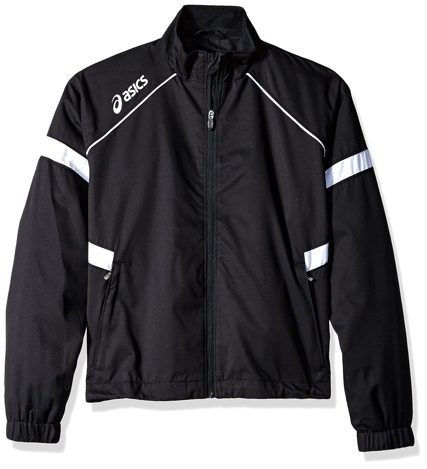 ASICS Junior Surge Warm-Up Jacket (Black/White) ASICS Sports Apparel YT1979.9001-P