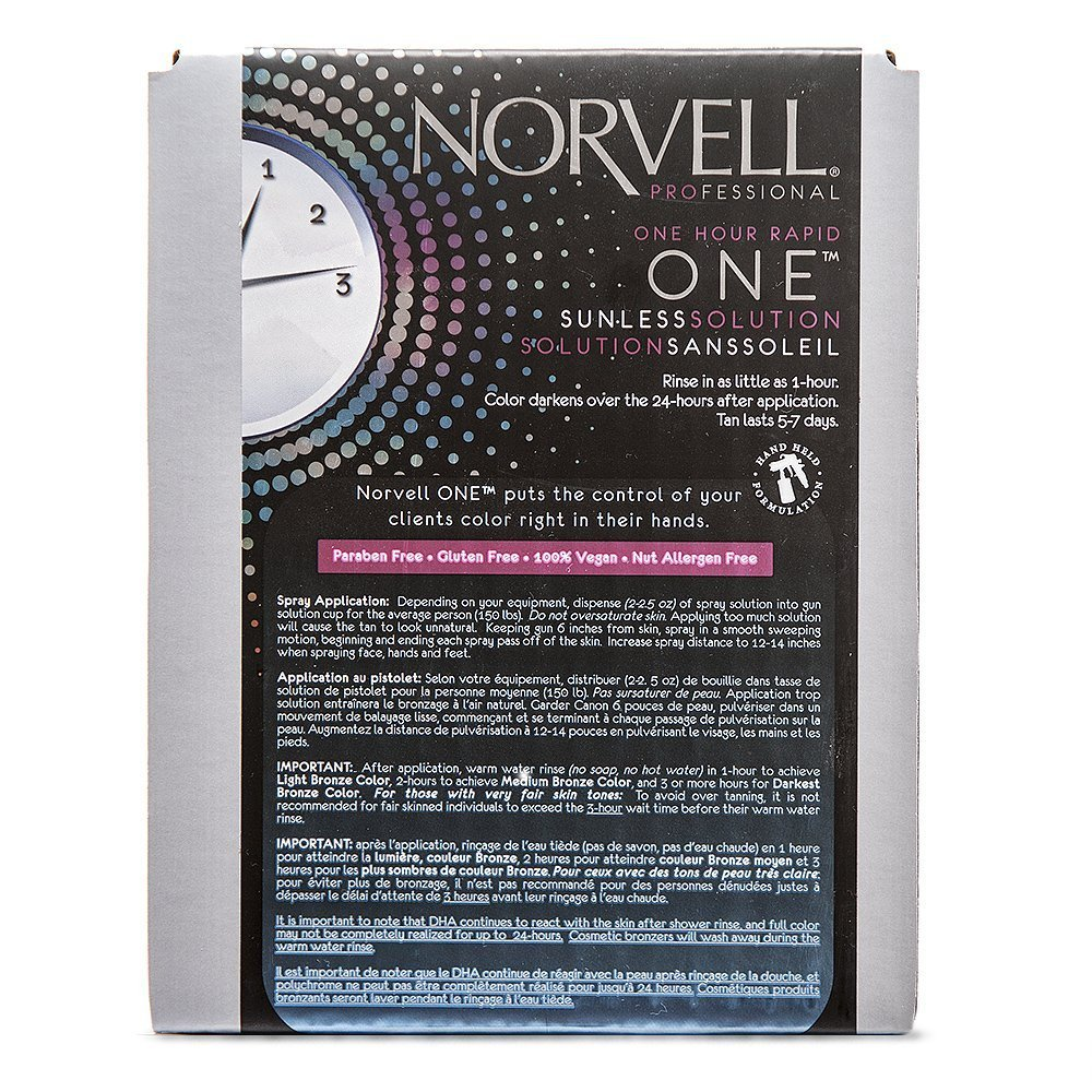 Norvell Premium Sunless Tanning Solution - One Hour Rapid, 1 Liter Box by Norvell (Image #2)
