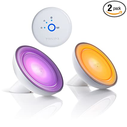 Philips Hue Bloom 2 Pack Dimmable Led Smart Table Lamp Starter Kit