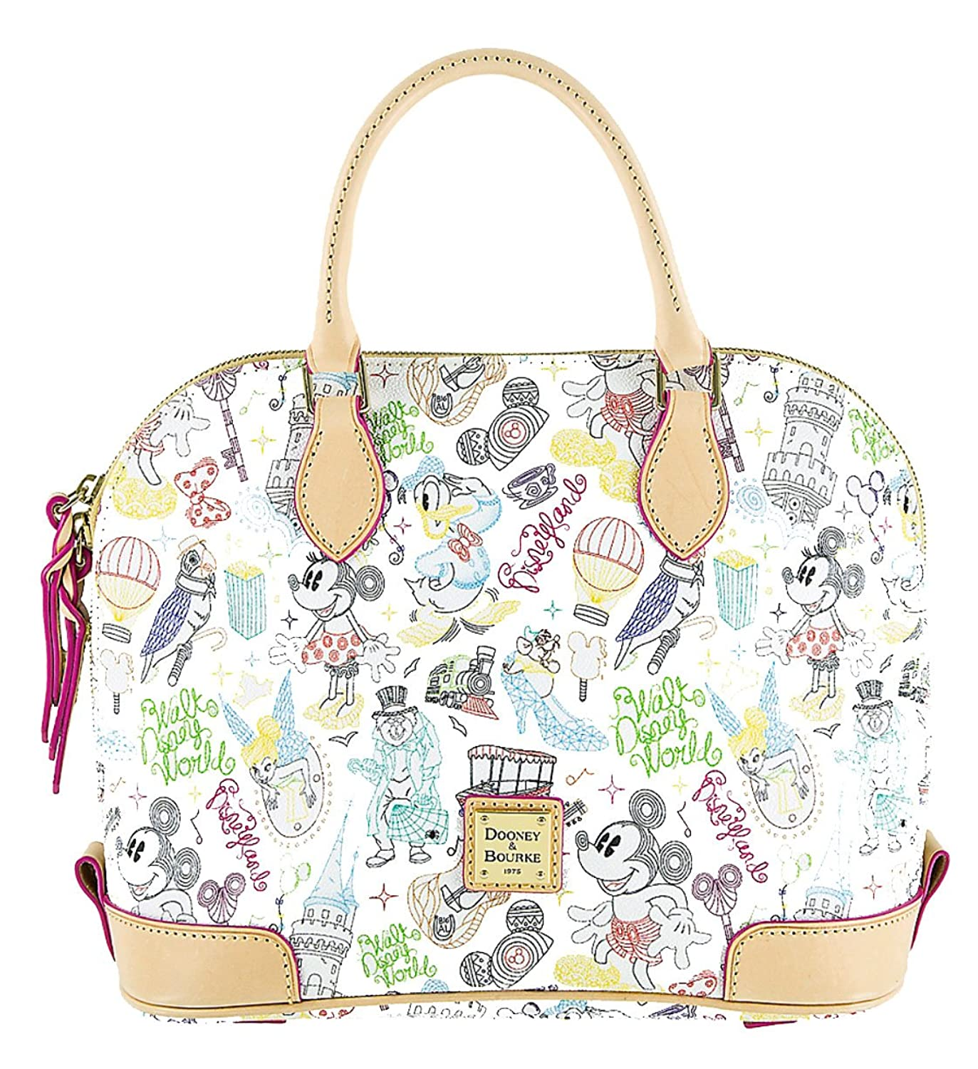 Disney Parks Dooney & Bourke Bag - A Walk In the Park - Passholder Satchel  Purse: Handbags: Amazon.com