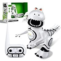 Sharper Image Interactive RC Robotosaur Dinosaur with Built-in Mood Sensors and Color-Changing LED Eyes
