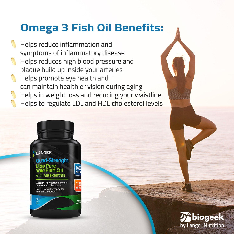 2600MG Max Heart Health Formula Omega 3 Fish Oil, The Highest Amount of Burpless Omega 3 Capsules | Ultra High EPA 1400MG + DHA 1125MG | Superior Triglyceride Form