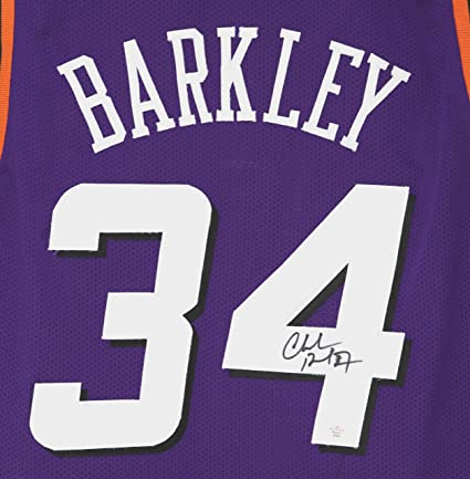best website 6d2f3 ed198 Charles Barkley Phoenix Suns Signed Autographed Purple #34 ...