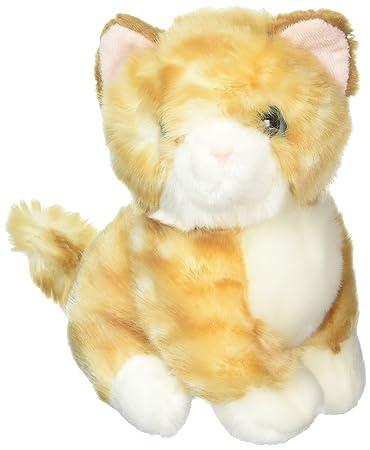 Amazon Com Lazada Realistic Stuffed Yellow Cat Baby Animal Dolls