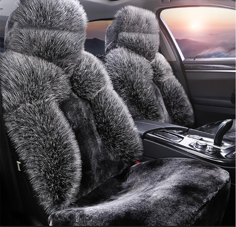 YAOHAOHAO Luxury & noble fluffy lint car seat covers seat covers before & adapt to the rear