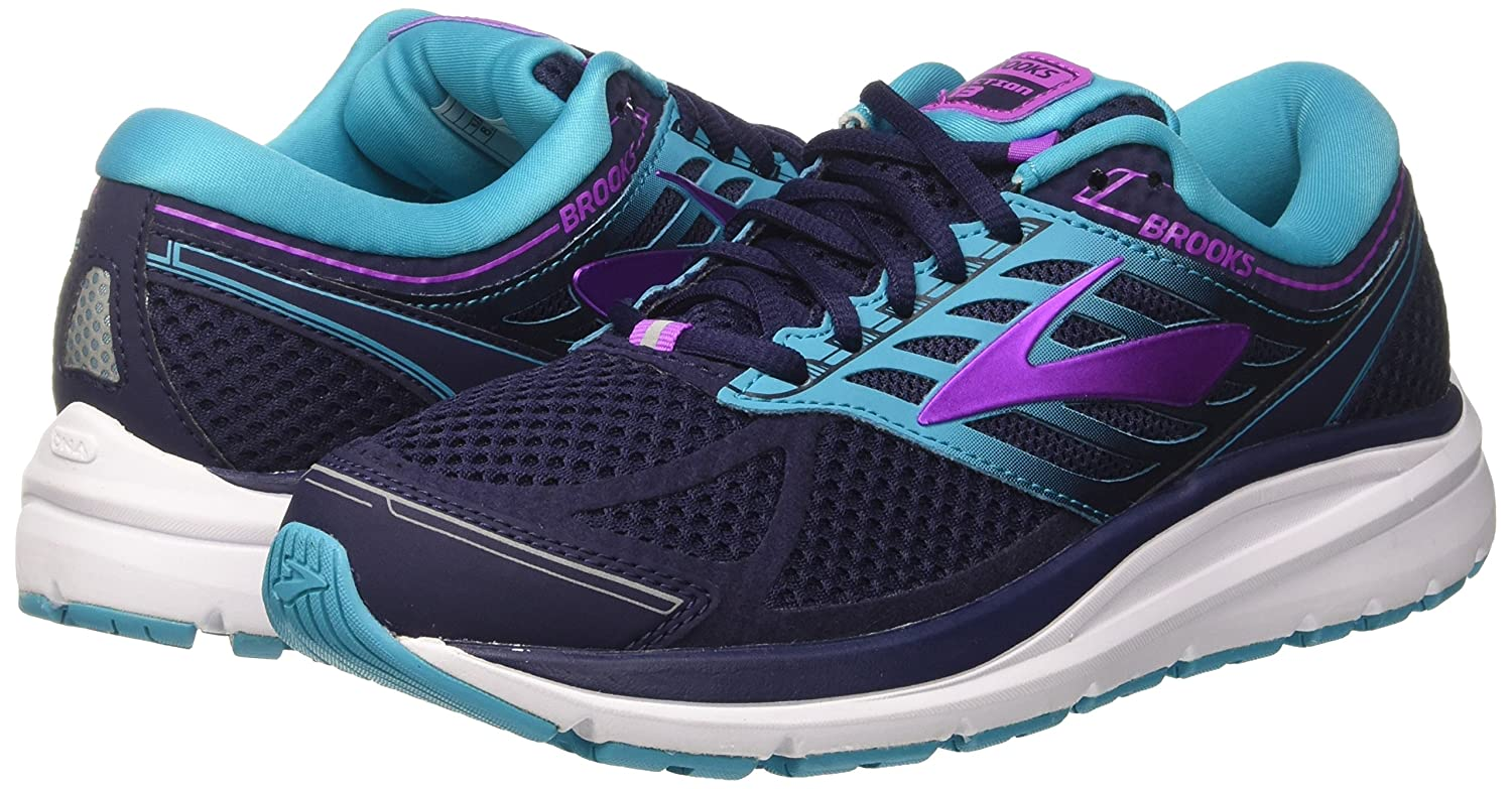 Brooks Womens Addiction 13 B01MTL2Q23 10 EE US|Evening Blue/Teal Victory/Purple Cactus Flower