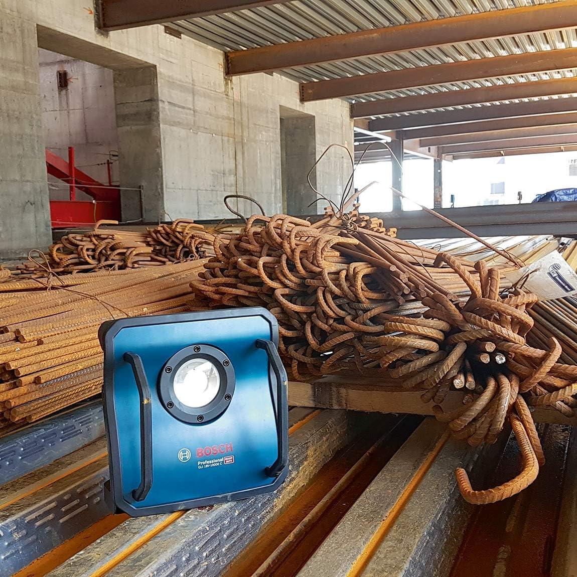 ohne Akku, 18 Volt System, Leuchtst/ärke: 10.000 lm, im Karton Bosch Professional Akku Baustrahler GLI 18V-10000 C