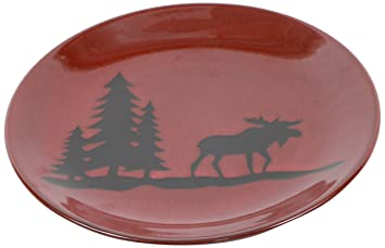 Amazon.com: DEI Woodland Moose Stoneware Dinner Plate, 11-Inch: Home ...